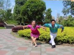 夫妻广场舞 原创《北京的金山上》变队形