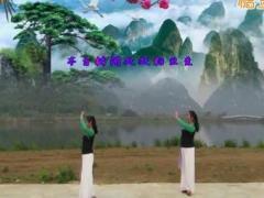 广西柳州彩虹健身队《江南情》姊妹花演示