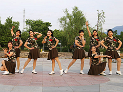 茉莉广场舞 《一首醉人的歌》 单人水兵舞 含背面动作分解教学