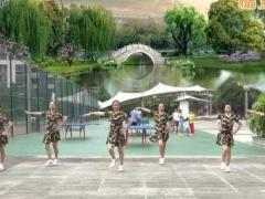 重庆叶子广场水兵舞 女兵走在大街上 原创附教学