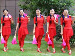 杨丽萍广场舞 《山里人乐的好潇洒》 原创双扇扇子舞