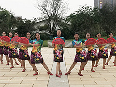 応子广场舞《国色天香》 含背面动作分解教学
