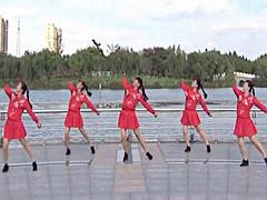 青儿广场舞 《毛主席的书我最爱读》 原创红歌健身舞