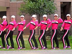 杨丽萍广场舞 请你到平南来做客 原创动感健身操