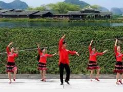 凤凰六哥广场舞 情歌赛过春江水 原创 附教学