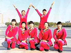 青儿广场舞《草原情》原创民族健身舞