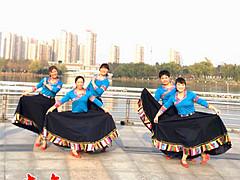 青儿广场舞 《拉萨情歌》 原创民族风广场舞