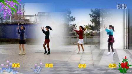 阿采广场舞群 姐妹合屏DJ 火苗 32步