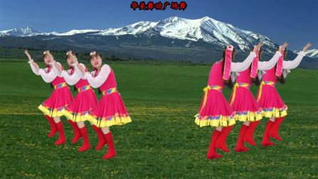 藏族舞 雪山姑娘 演唱蒙克 好听好看附动作教学