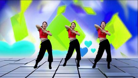 六妹和你一起来跳摆跨操 野花香 只有几组动作轻轻松松来健身