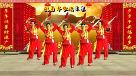 小慧广场腰鼓舞 张灯结彩 红火日子年年岁岁 正反演示附教学