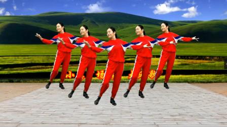 小慧广场舞 大风歌 嘹亮动听 网红弹跳32步附教学