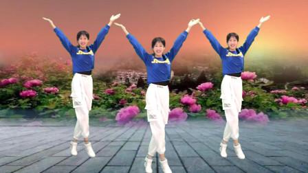 阿采原创广场舞 健身广场舞 牡丹之歌 超级好看 超级火 快看看吧