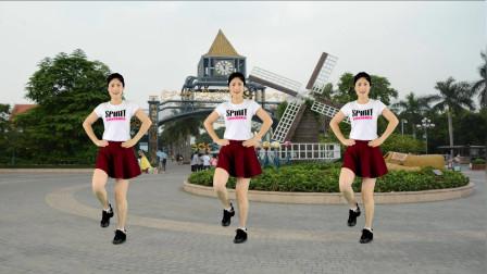 情歌健身广场舞 三月三 简单入门水兵舞 时尚动感又大方!