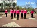 芳姿广场舞---火火的姑娘 集体表演-编舞芳姿
